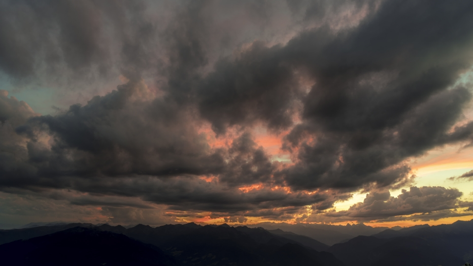 Plose mountain panorama sunset - 04